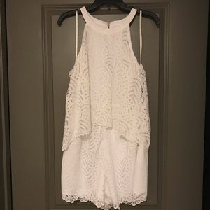 Lily Pulitzer white lace romper Never been worn!